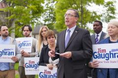 Jim Gaughran, Suffolk County Water Authority Chairman, announcing his campaign for State Senate